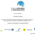 Watson & Co. Chartered Marketing demonstrate commitment to WorldHost Scotland with Visit Aberdeen and Aberdeenshire Ambassador Training Certification