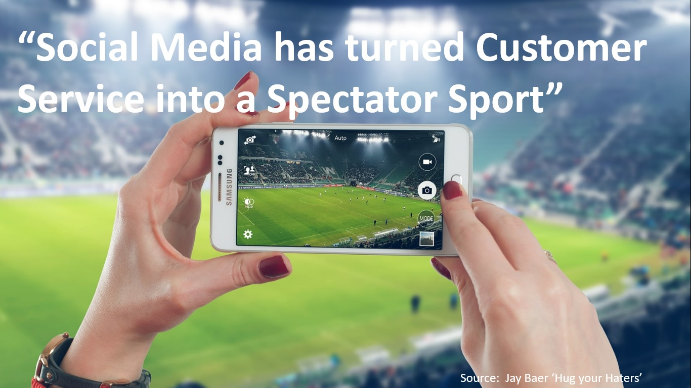 Social Media has turned Customer Service into a Spectator Sport