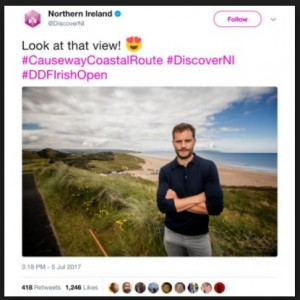 Discover NI Social Media Post Jamie Dornan
