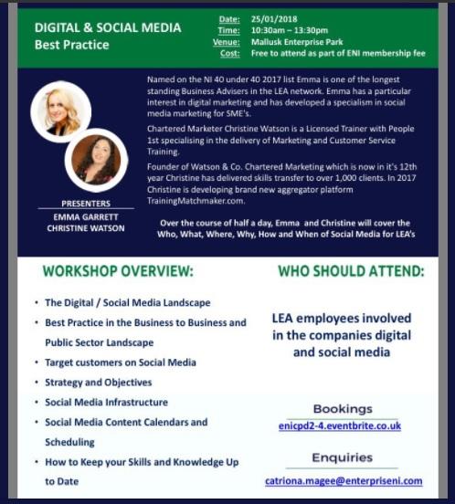 Digital and Social Media Best Practice for Local Enterprise