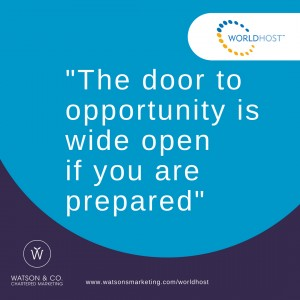 The door to opportunity is wide open if you are prepared