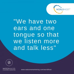 We have two ears and one tongue so that we listen more and talk less