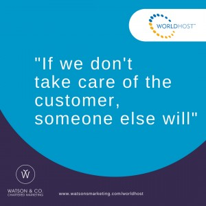 If we don't care of our customers, somebody else will