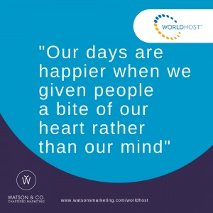 Our days are happier when we give people a bit of our heart rather than our mind
