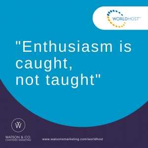 Enthusiasm is caught, not taught