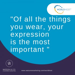 Of all the things you wear, your expression is the most important