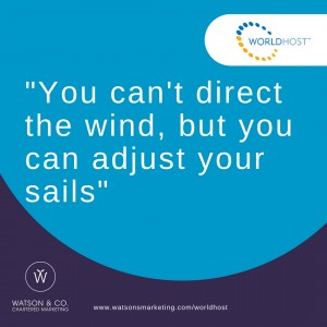 You can't direct the wind, but you can adjust your sails