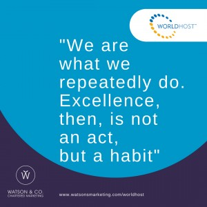 We are what we repeatedly do. Excellence, then, is not an act, but a habit