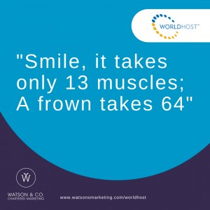 Smile, it takes only 13 muscles; A frown takes 64