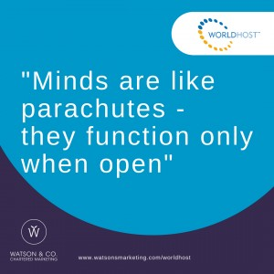 22. Mind are like parachutes – they function only when open
