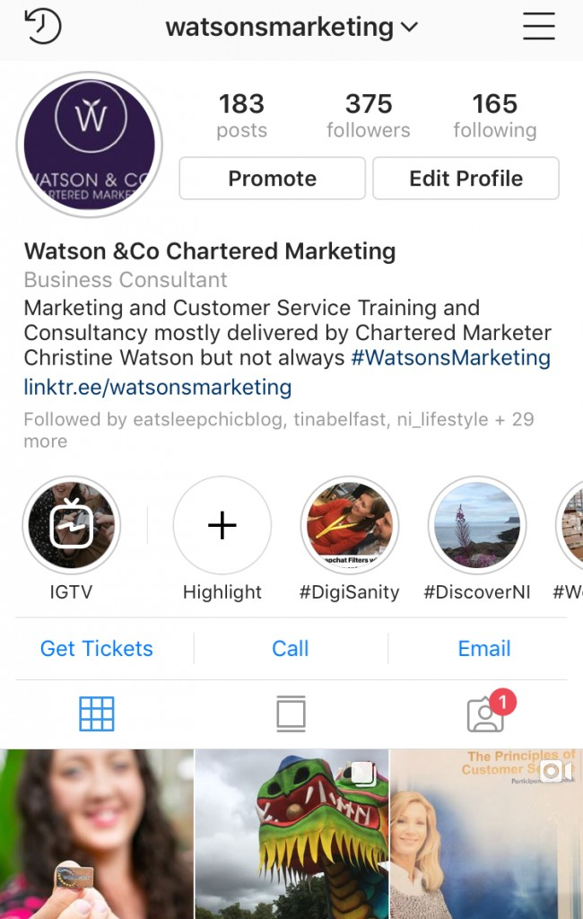 WatsonsMarketing Tuesday Tip image optimise your instagram bio