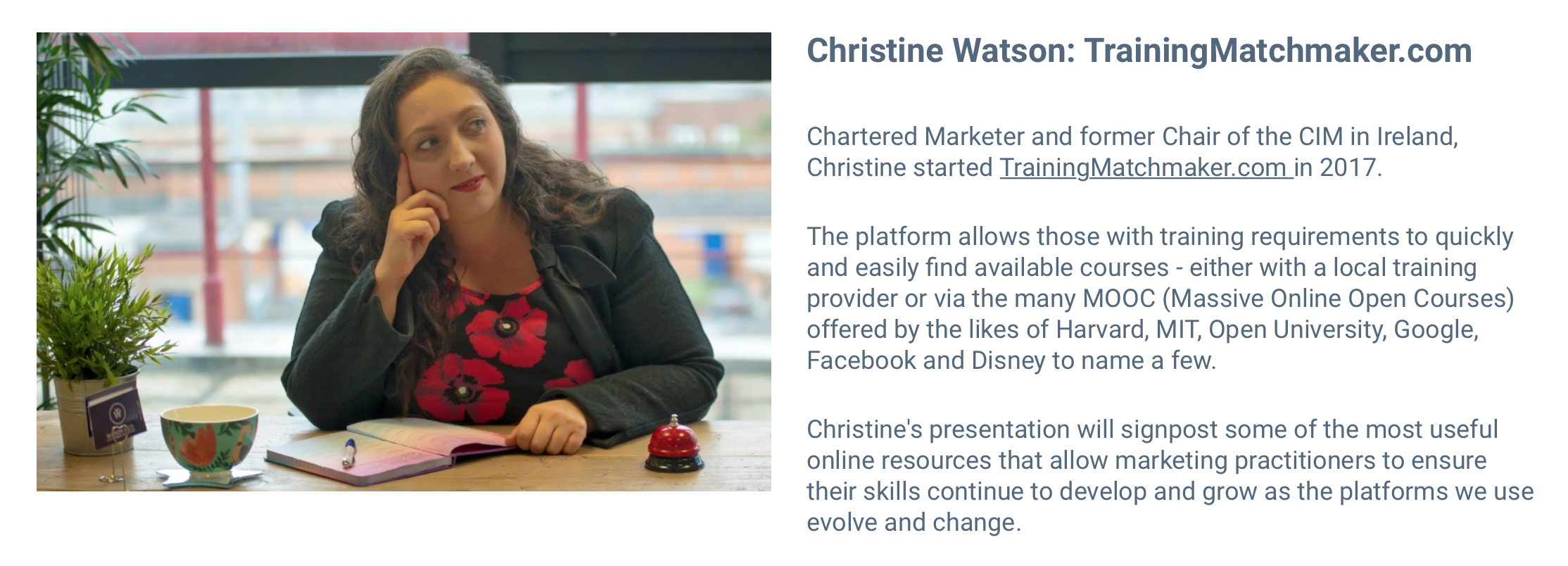 Hear about the Future of Learning from Chartered Marketer Christine Watson at the Future of Marketing Part 3 Conference in Belfast