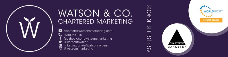 Email signature graphic for christine watson watson and co chartered marketing