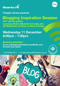 Finaghy Blogging Inspiration Session poster