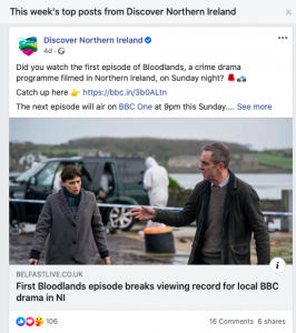 Discover Northern Ireland's top post this week. A link to Belfast Live article about Bloodlands drama crime show. 106 reactions, 16 comments and 6 shares.