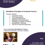 WorldHost Principles of Customer Service Training Courses for Forward South Partnership – Delegate places fully funded by Belfast City Council for South Belfast – 22 October 2018
