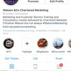 Watson & Co. Chartered Marketing Tuesday Tip: Go Review Your Instagram Bio