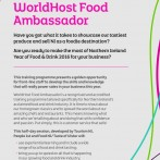 WorldHost Food Ambassador Programme for businesses in Mid and East Antrim Borough Council incorporating: Larne, Carrick and Ballymena on 21 February 2017 at Ballygally Castle Hotel