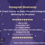 InstaMeet – a Content Creation Bootcamp for Business Instagrammers – 8 September 2017